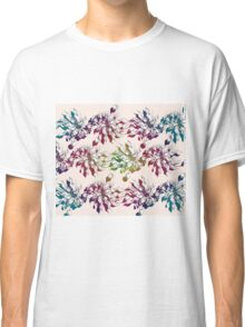floral seamless pattern with hand drawn flowering crocus Classic T-Shirt