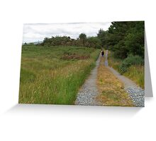 Walking in Glen Veagh Greeting Card