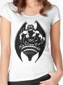 Gargoyles Goliath - Black and White  Women's Fitted Scoop T-Shirt