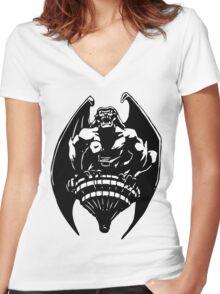 Gargoyles Goliath - Black and White  Women's Fitted V-Neck T-Shirt