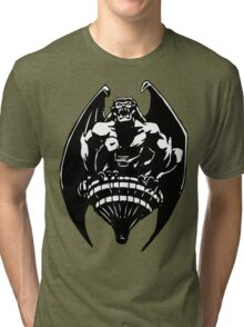 Gargoyles Goliath - Black and White  Tri-blend T-Shirt