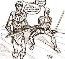 Baron Zemo / Deadpool sketch by Michael Lee