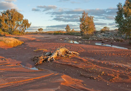 Broken Hill creek bed by Keith Smith