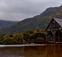 Cradle pano boatshed. by Kip Nunn