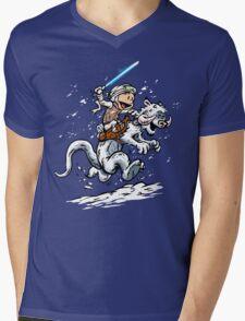 Calvin and Hoth Mens V-Neck T-Shirt