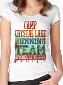 Camp Crystal Lake Running Team Women's Fitted Scoop T-Shirt