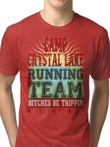 Camp Crystal Lake Running Team Tri-blend T-Shirt