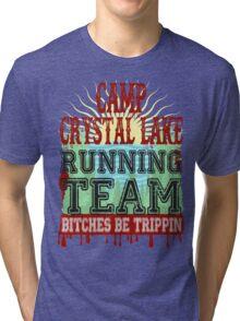 Camp Crystal Lake Running Team Tri-blend T-Shirt