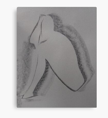 Nude - Charcoal Canvas Print
