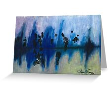 Frosted Reflections Greeting Card