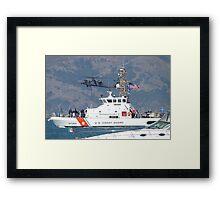 US Coast Guard Cutter Pike at Fleet Week Framed Print