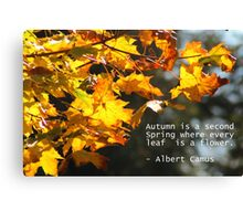 Autumn is a Second Spring Canvas Print