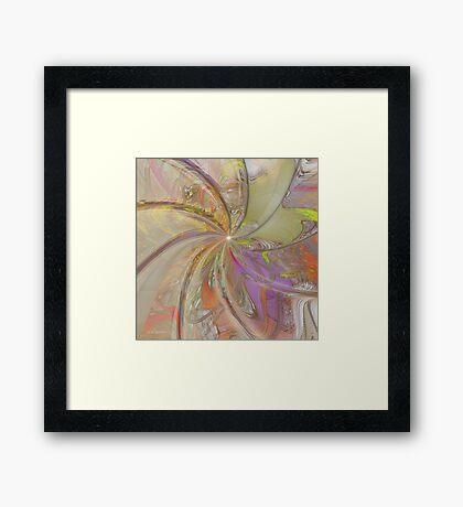 Multi Colored Pinwheel Framed Print