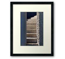 Between the Pillars Framed Print