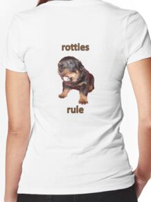 Rotties Rule Women's Fitted V-Neck T-Shirt