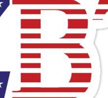 ZBT letters in American Flag Sticker