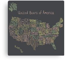 United Beers of America Canvas Print