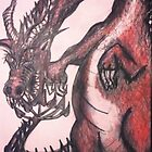 WELSH DRAGON DRAWING  by dallys