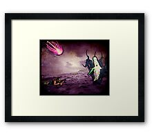 Assault on Malefica (Queen of the Mysteroyds) Framed Print