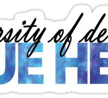 UD Blue Hens Tie Dye Sticker