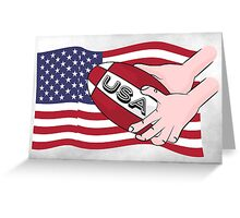 Rugby USA Flag Greeting Card