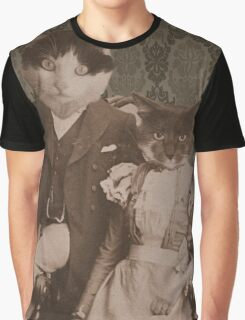 Harry and Trixie Cat Graphic T-Shirt
