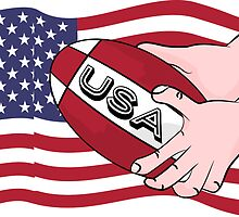 Rugby USA Flag by piedaydesigns