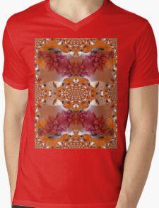 Pink Ninphea Mens V-Neck T-Shirt