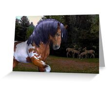 The Wild Stallion ..  Greeting Card