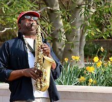 saxophon player. by Max Franz Jr.