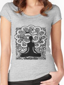 Om Namaste Yoga Women's Fitted Scoop T-Shirt