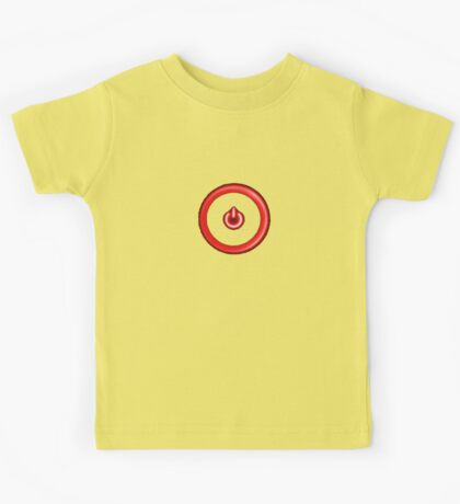 Red Power Button Kids Tee