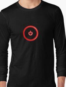 Red Power Button Long Sleeve T-Shirt