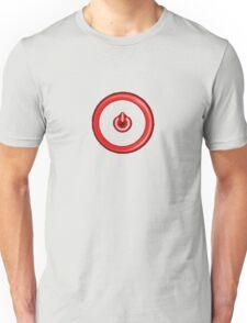 Red Power Button Unisex T-Shirt