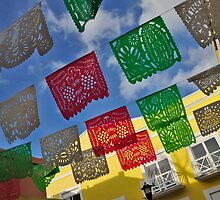 Festival and celebration flags in Mexico by avresa