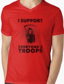 I Support Everyone's Troops (Political /Statement) - Grim Reaper  Mens V-Neck T-Shirt