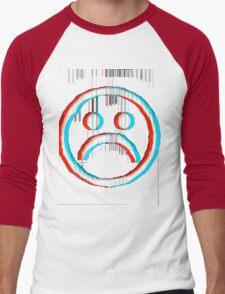 Sad Glitch Men's Baseball ¾ T-Shirt