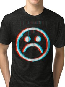 Sad Glitch Tri-blend T-Shirt