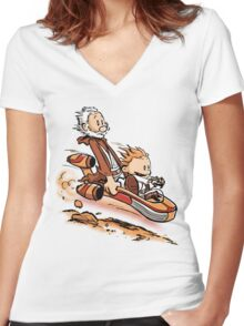 A Less Civilized Age Women's Fitted V-Neck T-Shirt