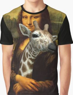Mona Lisa Loves Giraffes Graphic T-Shirt