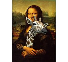 Mona Lisa Loves Giraffes Photographic Print
