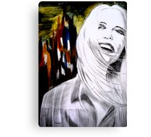 NY woman Canvas Print