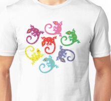 Colorful Lizards Unisex T-Shirt