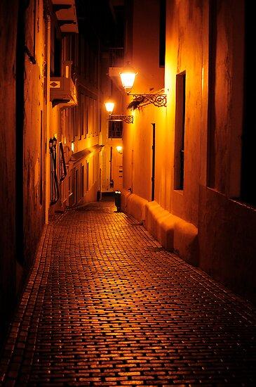 Cobblestone alleyway in Old San Juan by avresa