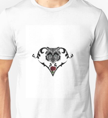 Wolf Design (with white background) Unisex T-Shirt