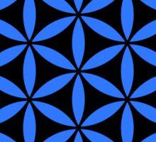 Flower of Life - Blue/Black Sticker