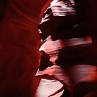 Face in the rock, Upper Antelope Canyon by Martin Lawrence