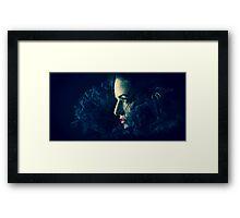 Blue Charlotte Framed Print