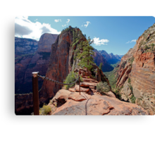 The Step of Faith on Angels Landing Canvas Print