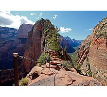 The Step of Faith on Angels Landing Photographic Print